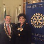 Il Governatore  Franco Venturi  in visita al Rotary L.A. Muratori