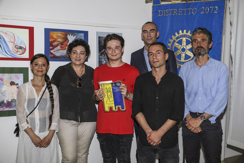 Commissione/Giuria con il Alberto Bernardi, di Venezia, primo classificato