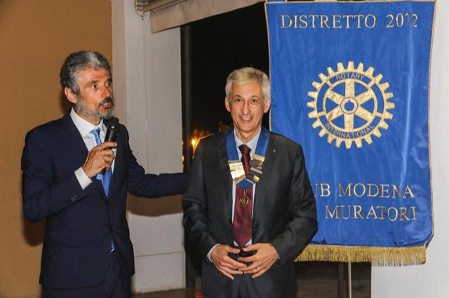 Passaggio delle consegne al Rotary Club Modena L.A. Muratori